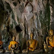 "Dvaravati period Buddha at Tham Ruesi Khao Ngu in ""Tambon Ko Phlub Phla"", Ratchaburi."