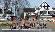 London, Great Britain, The Newton Women's Boat Race, Men's Race , Championship Course.  River Thames. Putney to Mortlake. ENGLAND. <br /> <br /> 17:14:37  Saturday  11/04/2015<br /> <br /> [Mandatory Credit; Peter Spurrier/Intersport-images]<br /> <br /> OUWBC Crew: <br /> Maxie SCHESKE, Anastasia CHITTY, Shelley PEARSON, Lauren KEDAR, Maddy BADCOTT, Emily REYNOLDS, Nadine GRAEDEL IBERG, Caryn DAVIES and Cox Jennifer EHR
