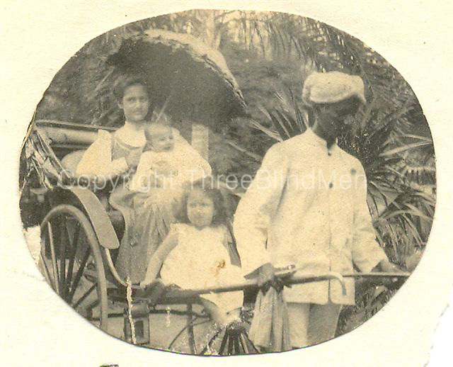 Etta, Cyril and Bertha.<br /> Sally Hulugalle Collection