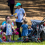 An outing of young Eventing fans enjoying the day at the Red Hills International Horse Trials in Tallahassee, Florida.