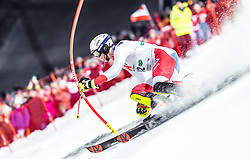 "29.01.2019, Planai, Schladming, AUT, FIS Weltcup Ski Alpin, Slalom, Herren, 1. Lauf, im Bild Ramon Zenhaeusern (SUI) // Ramon Zenhaeusern of Switzerland in action during his 1st run of men's Slalom ""the Nightrace"" of FIS ski alpine world cup at the Planai in Schladming, Austria on 2019/01/29. EXPA Pictures © 2019, PhotoCredit: EXPA/ JFK"