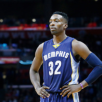 09 November 2015: Memphis Grizzlies forward Jeff Green (32) is seen during the Los Angeles Clippers 94-92 victory over the Memphis Grizzlies, at the Staples Center, in Los Angeles, California, USA.