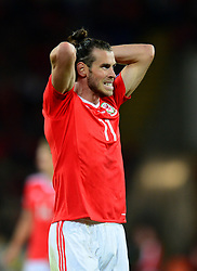Gareth Bale of Wales reacts after coming close to scoring  - Mandatory by-line: Dougie Allward/JMP - 02/09/2017 - FOOTBALL - Cardiff City Stadium - Cardiff, Wales - Wales v Austria - FIFA World Cup Qualifier 2018