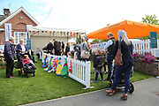 The queue for Face Painting during the Newby and the Press Family Raceday at York Racecourse, York, United Kingdom on 9 September 2018. Picture by Mick Atkins.