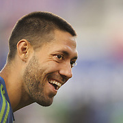 Clint Dempsey, Seattle Sounders, warming up before the New York Red Bulls Vs Seattle Sounders, Major League Soccer regular season match at Red Bull Arena, Harrison, New Jersey. USA. 20th September 2014. Photo Tim Clayton