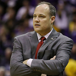 Jan 26, 2016; Baton Rouge, LA, USA; Georgia Bulldogs head coach Mark Fox against the LSU Tigers during the first half of a game at the Pete Maravich Assembly Center. Mandatory Credit: Derick E. Hingle-USA TODAY Sports