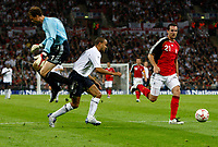 Photo: Richard Lane/Sportsbeat Images.<br />England v Germany. International Friendly. 22/08/2007. <br />Germany's Jens Lehamm is beaten by England's Kieron Dyer.