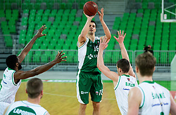 Jure Balazic of Krka during basketball match between KK Petrol Olimpija and KK Krka in Round #6 of Liga Nova KBM za prvaka 2018/19, on April 5, 2019, in Arena Stozice, Ljubljana, Slovenia. Photo by Vid Ponikvar / Sportida
