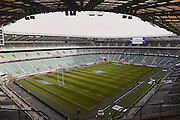 The View from the upper deck at Twickenham during the Autumn International Series match between England and Fiji at Twickenham, Richmond, United Kingdom on 19 November 2016. Photo by Ian  Muir.