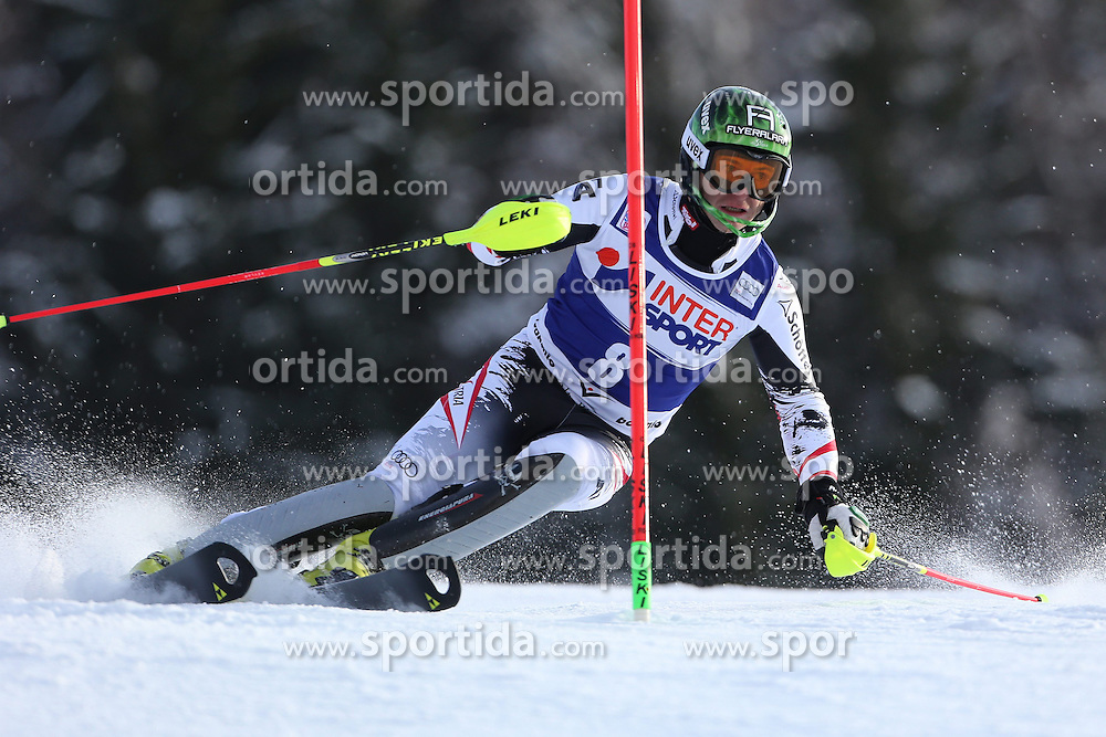 06.01.2014, Stelvio, Bormio, ITA, FIS Weltcup Ski Alpin, Bormio, Slalom, Herren, im Bild Reinfried Herbst // Reinfried Herbst  in action during mens Slalom of the Bormio FIS Ski World Cup at the Stelvio in Bormio, Italy on 2014/01/06. EXPA Pictures © 2014, PhotoCredit: EXPA/ Sammy Minkoff<br /> <br /> *****ATTENTION - OUT of GER*****