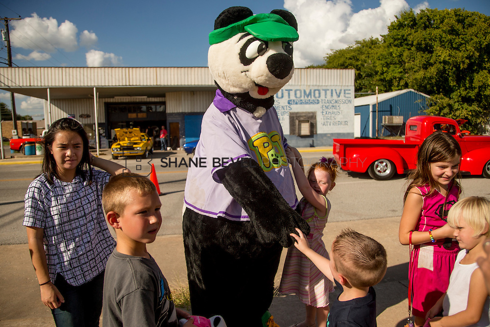 9/24/16 4:24:44 PM --  PJ Panda appears at a car show in Locust Grove for Children's Miracle Network. <br /> <br /> Photo by Shane Bevel