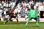 Callum Wilson (13) of AFC Bournemouth shoots at goal and misses the target during the Premier League match between Bournemouth and Swansea City at the Vitality Stadium, Bournemouth, England on 5 May 2018. Picture by Graham Hunt.