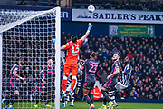 Leeds United goalkeeper Kiko Casilla (13) in action during the EFL Sky Bet Championship match between West Bromwich Albion and Leeds United at The Hawthorns, West Bromwich, England on 1 January 2020.