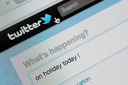 Detail of screenshot from website of Twitter instant messaging website