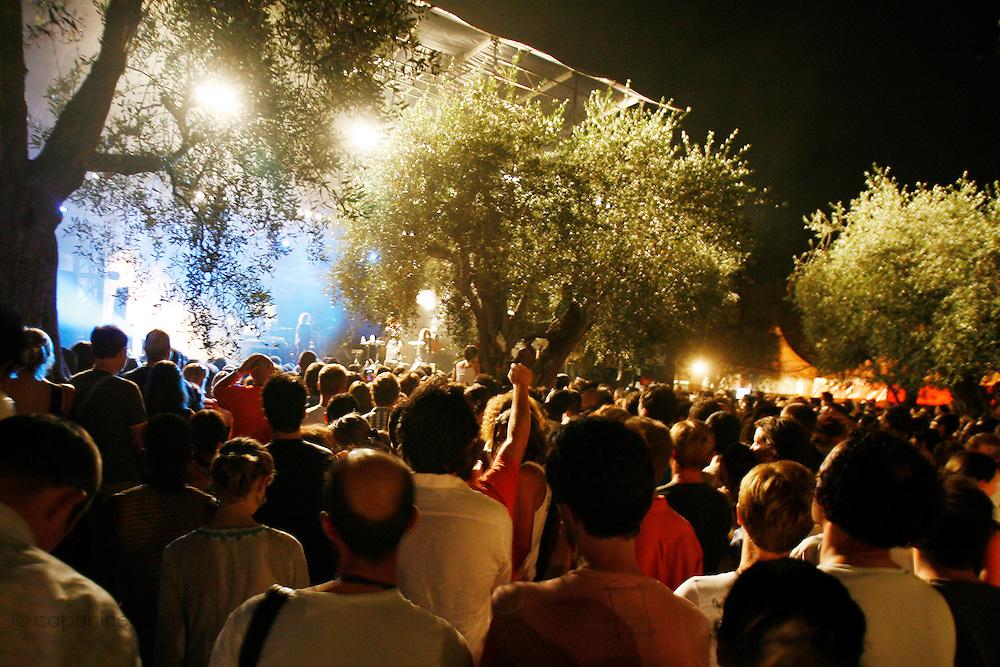 Cimiez, Nice. France. July 19th 2006..People enjoy Erykah Badu's concert at the Nice Jazz Festival.