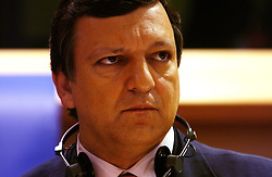 BRUSSELS, BELGIUM - JULY-13-2004 - José Manuel Barroso , candidate for President of the European Commission, speaks to socialist members of the European Parliament during his confirmation hearings. Barroso , was nominated by the leaders of the member states of the European Union to succeed Romano Prodi as the next President of the European Commission. Barroso recently resigned his post as Prime Minister of Portugal so he could accept the position. The European Parliament will make the final decision on Barroso's nomination. (PHOTO © JOCK FISTICK)