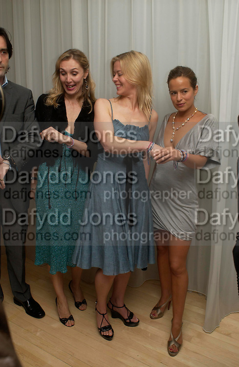 Allegra Hicks, Lady Helen Taylor and Jade Jagger. An evening in aid of cancer charity Clic Sargent held at the Sanderson Hotel, Berners Street, London on 4th July 2005ONE TIME USE ONLY - DO NOT ARCHIVE  © Copyright Photograph by Dafydd Jones 66 Stockwell Park Rd. London SW9 0DA Tel 020 7733 0108 www.dafjones.com