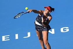 BEIJING, Oct. 3, 2018  Karolina Pliskova of Czech Republic serves during the women's singles second round match against Aliaksandra Sasnovich of Belarus at China Open tennis tournament in Beijing, China, Oct. 3, 2018. Karolina Pliskova won 2-0. (Credit Image: © Ju Huanzong/Xinhua via ZUMA Wire)