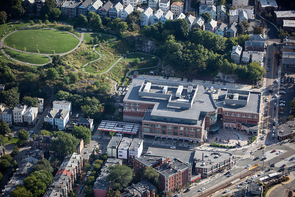 190,000 square foot mixed use retail and office building at Bringham Circle on Huntington Ave with Kevin W. Fitzgerald Park behind.