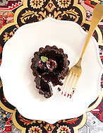 Chocolate ganache and cherry tarletts for Capital Style Holiday cooking and wine pairings story. (Will Shilling/Capital Style)