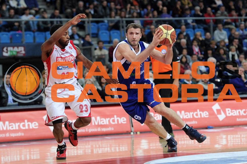 DESCRIZIONE : Pesaro Lega A 2012-13 Scavolini Banca Marche Pesaro Chebolletta Cantu<br /> GIOCATORE : Markoishvili<br /> CATEGORIA : palleggio penetrazione scelta<br /> SQUADRA : Chebolletta Cantu<br /> EVENTO : Campionato Lega A 2012-2013 <br /> GARA : Scavolini Banca Marche Pesaro Chebolletta Cantu<br /> DATA : 18/11/2012<br /> SPORT : Pallacanestro <br /> AUTORE : Agenzia Ciamillo-Castoria/C.De Massis<br /> Galleria : Lega Basket A 2012-2013  <br /> Fotonotizia : Pesaro Lega A 2012-13 Scavolini Banca Marche Pesaro Chebolletta Cantu<br /> Predefinita :