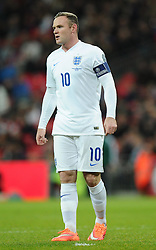 Wayne Rooney of England (Manchester United) makes his 100th appearance for England  - Photo mandatory by-line: Joe Meredith/JMP - Mobile: 07966 386802 - 15/11/2014 - SPORT - Football - London - Wembley - England v Slovenia - EURO 2016 Qualifier