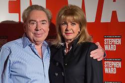 "© Licensed to London News Pictures. 30/09/2013. London, England. Pictured: Lord Andrew Lloyd Webber with Mandy Rice Davies. Photocall with the main cast and creatives behind the new Andrew Lloyd Webber Musical ""Stephen Ward"". The musical is due to premiere in the West End in December 2013. Photo credit: Bettina Strenske/LNP"