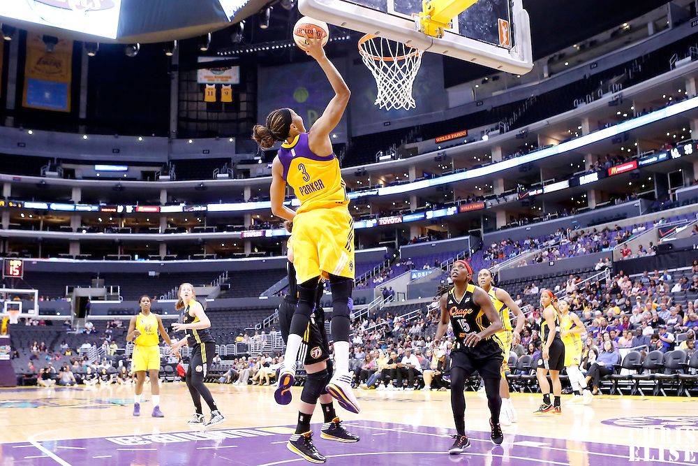 19 June 2014: Los Angeles Sparks forward/center Candace Parker (3) goes for the layup during the Los Angeles Sparks 87-77 victory over the Tulsa Shock, at the Staples Center, Los Angeles, California, USA.
