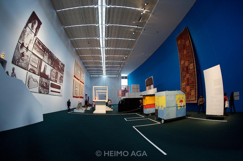 documenta12. documenta-Halle. Works by Cosima Bonin and others.