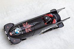 16.12.2017, Olympia Eisbahn, Igls, AUT, BMW IBSF Weltcup und EM, Igls, Zweierbob Damen, 1. Lauf, im Bild Kaillie Humphries und Phylicia George (CAN) // Kaillie Humphries and Phylicia George of Canada during 1st run of women's Bobsleigh competition of BMW IBSF World Cup and European Championship at the Olympia Eisbahn in Igls, Austria on 2017/12/16. EXPA Pictures © 2017, PhotoCredit: EXPA/ Johann Groder