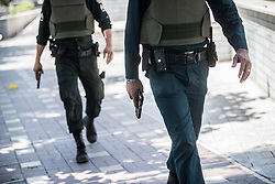 Jun 7, 2017 - Tehran, Iran - Iranian police officers conduct an operation against the attacker in the parliament building after gunmen opened fire at Iran's parliament and the shrine of Ayatollah Khomeini in the capital Tehran, Iran. The terrorist militia ISIS claimed responsibility for the attacks. (Credit Image: ? Erfan Kouchari/Tasnim/IranImages via ZUMA Wire)
