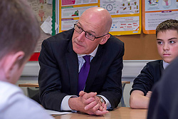 Pictured: John Swinney in the Literacy hub<br />