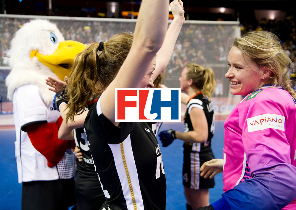 BERLIN - Indoor Hockey World Cup<br /> Final: Netherlands - Germany<br /> Germany wins the world championship.<br /> foto: Franzisca Hauke and Julia Ciupka.<br /> WORLDSPORTPICS COPYRIGHT FRANK UIJLENBROEK