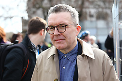 "© Licensed to London News Pictures. 23/03/2019. London, UK. Labour Deputy Leader TOM WATSON arrives to speak at the People's Vote rally after an estimated one million people marched through central London to demand that government allow a ""People's Vote"" on the Brexit deal. Several key votes will be held in Parliament in the coming week. Photo credit: Rob Pinney/LNP"