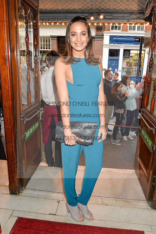 Singer LAURA WRIGHT at a Gala Performance of Impossible at the Noël Coward Theatre, 85-88 Saint Martin's Lane, London on 13th July 2016.