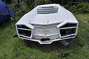 """KUNMING, CHINA - AUGUST 29: (CHINA OUT) <br /> <br /> A self - made """"Lamborghini"""" is seen at a community on August 29, 2013 in Kunming, Yunnan Province of China. The """"Lamborghini"""" has been deserted by someone as Chinese bloggers reported. <br /> ©Exclusivepix"""