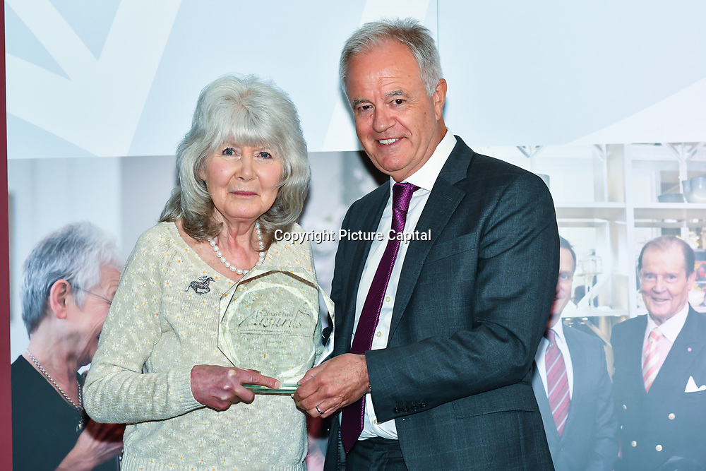Martin Young Present Winner of  Literature – Jilly Cooper CBE of the 7th annual Churchill Awards honour achievements of the Over 65's at Claridge's Hotel on 10 March 2019, London, UK.