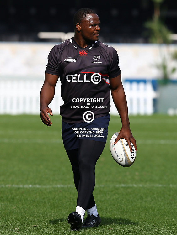 Chiliboy Ralepelle during The Cell C Sharks captain's run at Growthpoint Kings Park in Durban, South Africa. 3rd August 2017(Photo by Steve Haag)<br /> <br /> images for social media must have consent from Steve Haag