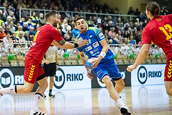 Cehte Nejc of Slovenia during friendly handball match between national teams Slovenia and Montenegro on 4th Januar, 2020, Trbovlje, Slovenia. Photo By Grega Valancic / Sportida