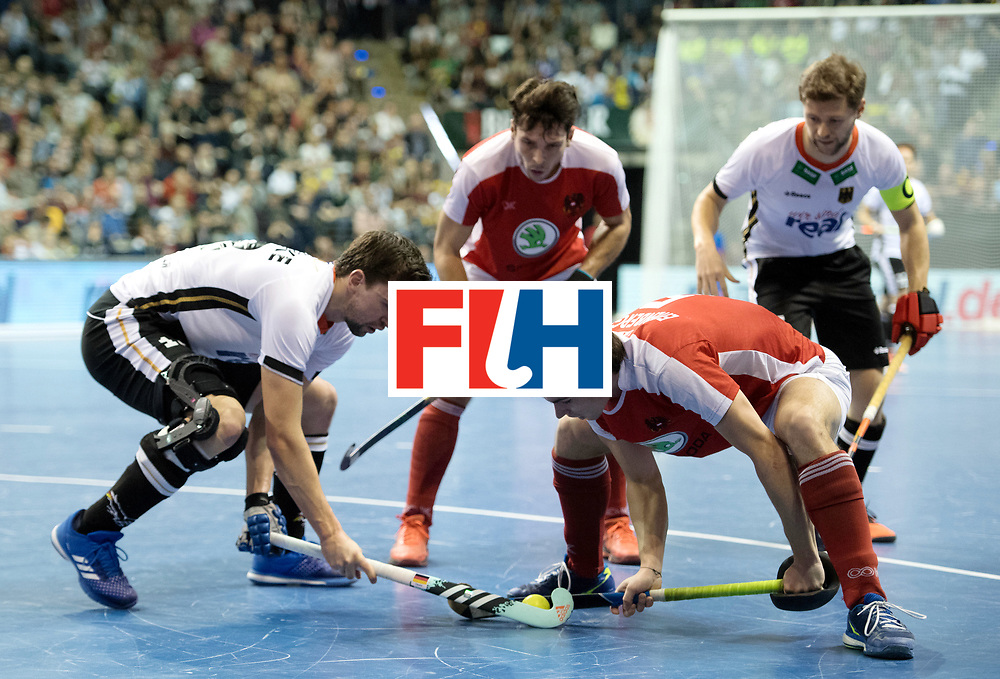 BERLIN - Indoor Hockey World Cup<br /> Final: Germany - Austria<br /> foto: Tobias Hauke and Sebastian Eitenberger <br /> WORLDSPORTPICS COPYRIGHT FRANK UIJLENBROEK