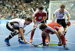 BERLIN - Indoor Hockey World Cup<br /> Final: Germany - Austria<br /> foto: Tobias Hauke and Sebastian Eitenberger <br /> WORLDSPORTPICS COPYRIGHT FRANK UIJLENBROEK