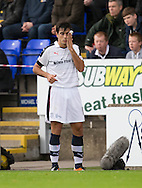 Dundee&rsquo;s Julen Etxabeguren with cut eye - Inverness Caledonian Thistle v Dundee in the Ladbrokes Scottish Premiership at Caledonian Stadium, Inverness. Photo: David Young<br /> <br />  - &copy; David Young - www.davidyoungphoto.co.uk - email: davidyoungphoto@gmail.com