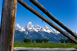 Grand Teton National Park, Wyoming:  View of the Tetons from Mormon Row.