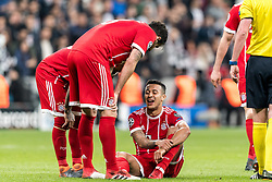 Thiago Alcantara do Nascimento of FC Bayern Munich left the match injured during the UEFA Champions League round of 16 match between Besiktas AS and Bayern Munchen at the Vodafone Arena on March 14, 2018 in Istanbul, Turkey