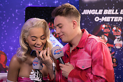 Rita Ora (left) during day one of Capital's Jingle Bell Ball with Coca-Cola at London's O2 Arena.