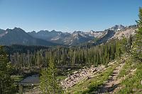 Baron Divide Trail Sawtooth Mountains Idaho