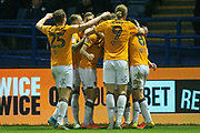 Goal Hull City Celebrates Jarrod Bowen of Hull City scores a goal 0-1 during the EFL Sky Bet Championship match between Sheffield Wednesday and Hull City at Hillsborough, Sheffield, England on 1 January 2020.