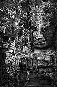 Cambodia.<br />The Bayon.<br />heads at Angkor Thom.<br /><br />Nov. 2001