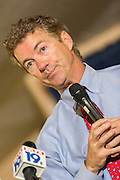 Senator and GOP presidential candidate Rand Paul speaks to a group of supporters at the Veterans of Foreign Wars post June 15, 2015 in Lexington, South Carolina. Paul told the crowd that the country is suffering from Bush-Clinton fatigue.