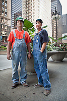 Sprinkler fitters and partners, Gina and Bill, Chicago, Illinois